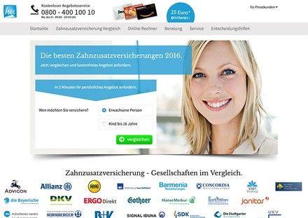 Homepage of Zahnzuversicherung-Direct.de
