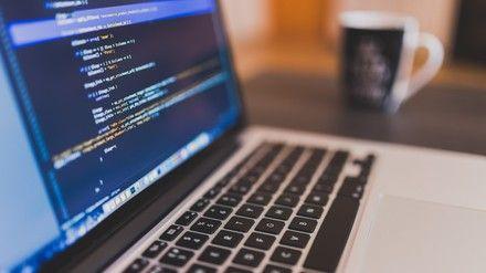Macbook with code editor