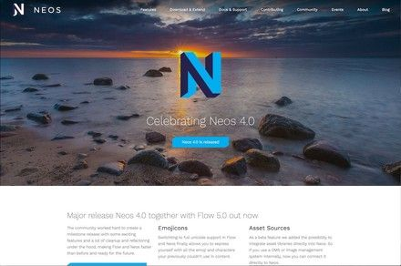 Homepage of the Neos CMS project