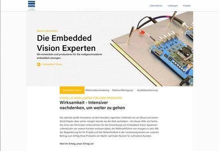 Homepage of hema.de